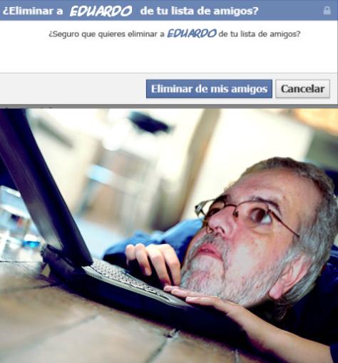 Un fallo en Facebook deja a Eduardo Aliverti sin amigos