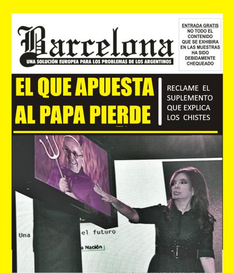 TAPA BARCELONA CON PAPA Y CRISTINA
