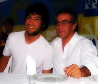 Intendente Guzman y el concejal opositor Leandro Costa