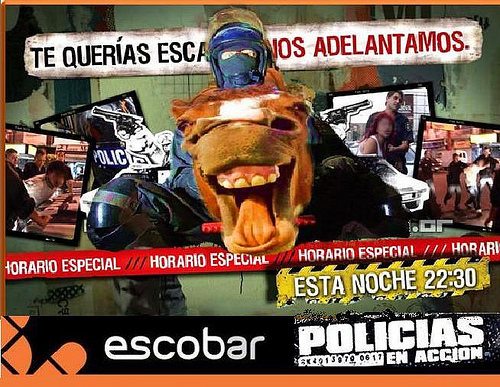 Acertado marketing escobarense sobre la eficiencia policial local