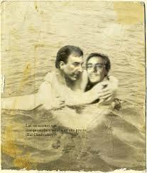 Luis Patti junto a Sandro Guzman durante sus vacaciones en Mar de Ajó
